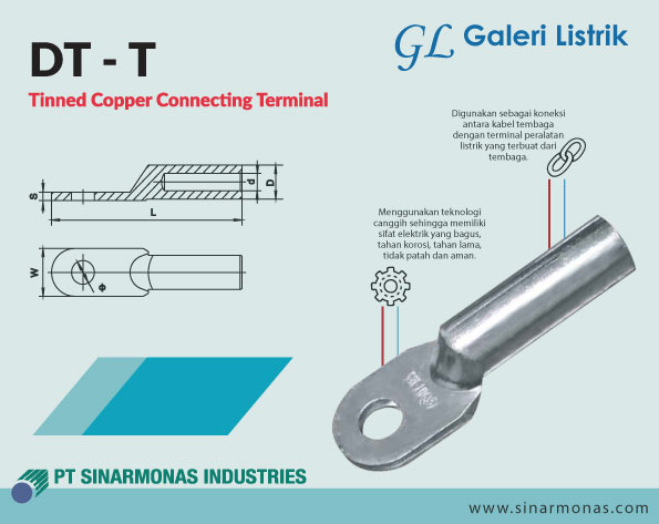 Skun DT-T (Tinned Copper Connecting Terminal)