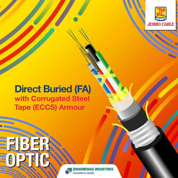 Kabel Fiber Optik Direct Buried (FA) With Corrugated Steel Tape (ECCS) Armour