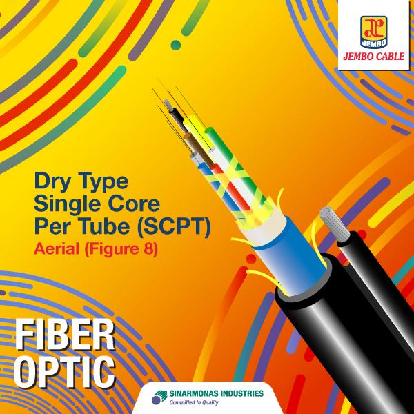 Kabel Fiber Optik Dry Type Single Core Per Tube (SCPT) - Aerial  (Figure 8)