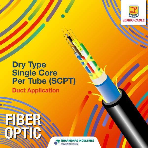 Kabel Fiber Optik Dry Type Single Core Per Tube (SCPT) - Duct Application