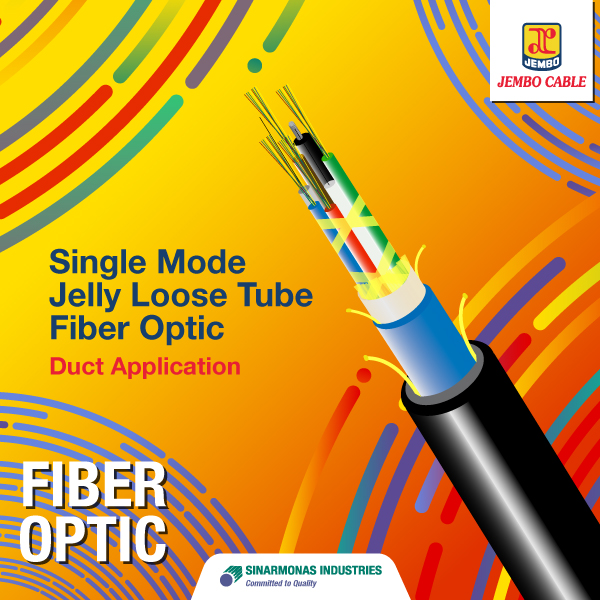 Kabel Fiber Optik Single Mode Jelly Loose Tube - Duct Application