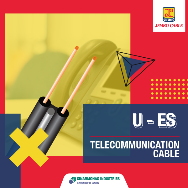 Kabel Telekomunikasi Drop Wire U-ES