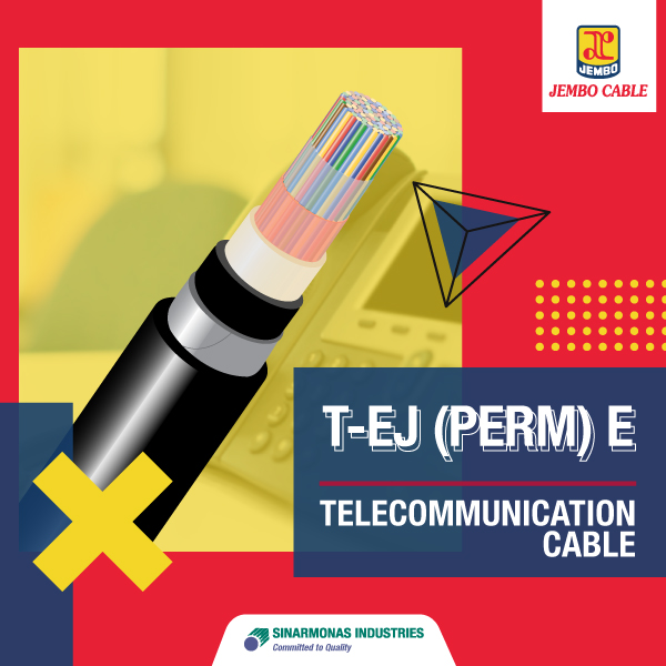 Kabel Telekomunikasi Jelly Filled Armoured Cable T-EJ (Perm) E
