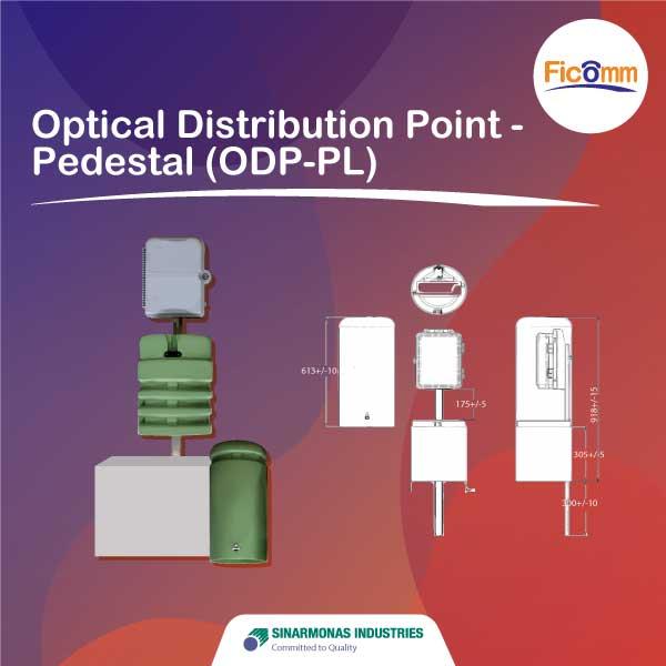 FTTH Ficomm - Optical Distribution Point - Pedestal (ODP-PL)