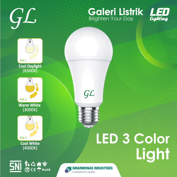 Lampu LED 3 Color Light