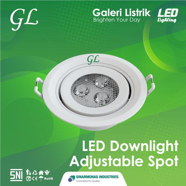 Lampu LED Downlight Adjustable Spot